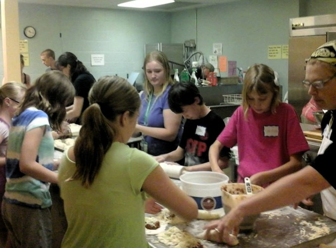Ministry partners helping bake